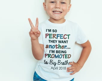 big brother Kids  T-Shirt, Childrens Toddlers T Shirt Top.