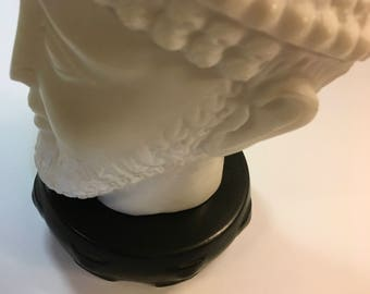 Vintage Mid Century Modern Hyalyn Pottery Matte Black Pedestal | Display Stand | Display Base Home Decor Item
