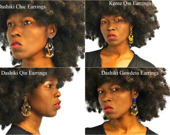 Dashiki Earrings, African Earrings, Kente Earrings, Dashiki Chandelier, Africa Earrings, Ankara Earrings, Ankara Chandelier Earrings,
