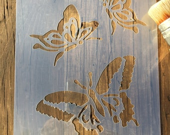 Butterfly Stencil, Butterfly Template, Insect Stencil, Butterfly Wings, Children's Stencil, Wall Stencil, Furniture Stencil, Craft Stencil