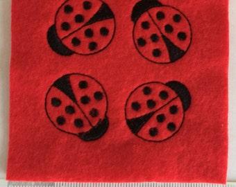 Ladybug Felties, Handmade Craft Accessories