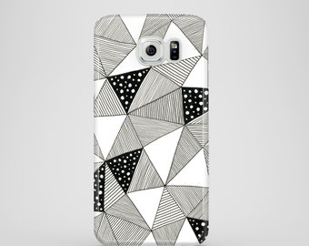 Pattern Triangles mobile phone case / Samsung Galaxy S7, Samsung Galaxy S6, Samsung Galaxy S6 Edge, Samsung Galaxy S5 / B&W phone case