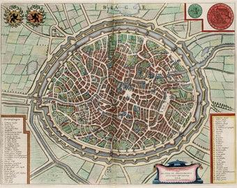 Bruges map Etsy