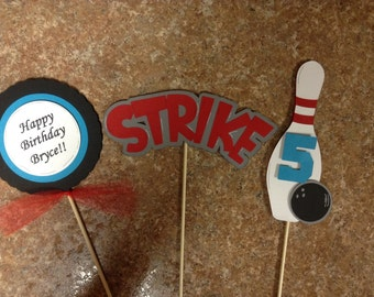 Bowling  Birthday Centerpieces