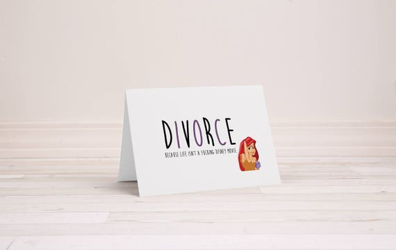 Divorce greeting card mermaid divorce happy divorce card