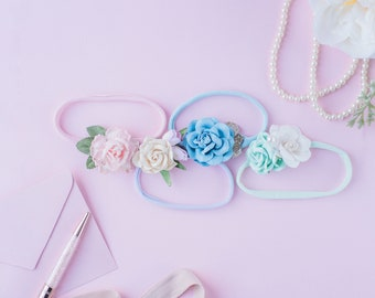 Newborn/toddler headband-Package of 4 (Spring Collection)