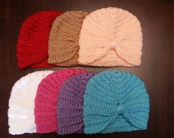 Crochet baby turban, baby hat, baby photo prop, new born turban, baby shower gift