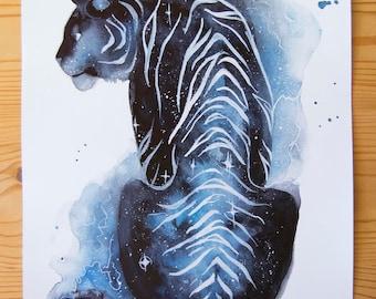 A5 Galaxy Tiger Print