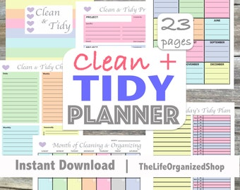 Cleaning Planner / Cleaning Schedule / Organization Planner / Household / Clean & Tidy Planner - From the Luminous Collection