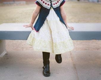 Sweet Heart Crochet Sweater in 5 sizes No. 2