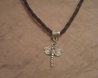 Silver Dragonfly Pendant on Various Leather/Suede/Braided Cord Necklaces