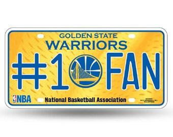 Golden State Warriors NBA #1 Fan Metal License Plate