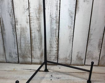 Sign Stand/bourbon barrel head stand/fluer de leis stand/wrought iron stand/signs