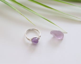 Fluorite Wire Wrapped Ring