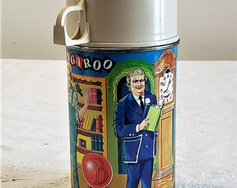 Vintage 1964 Captain Kangaroo Lunch Box Thermos
