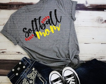 Softball Mom Shirt- Super Soft- Softball season