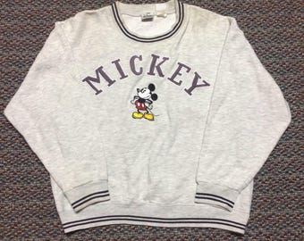 vintage mickey mouse sweatshirt size small..