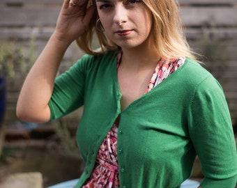 Green Bolero Short Sleeved Cardigan
