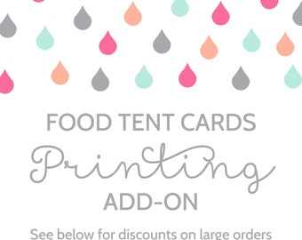 Printing Add-On for Food Tent Cards