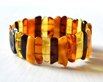 Baltic Amber Bracelet, Natural Amber Jewelry, Summer bracelet, natural Gift for Her