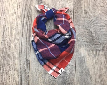 Plaid Dog Bandana, Multi-Plaid Dog Bandana, Dog Bandana, Pet Bandana, Flannel Bandana, Christmas Bandana, #dogs