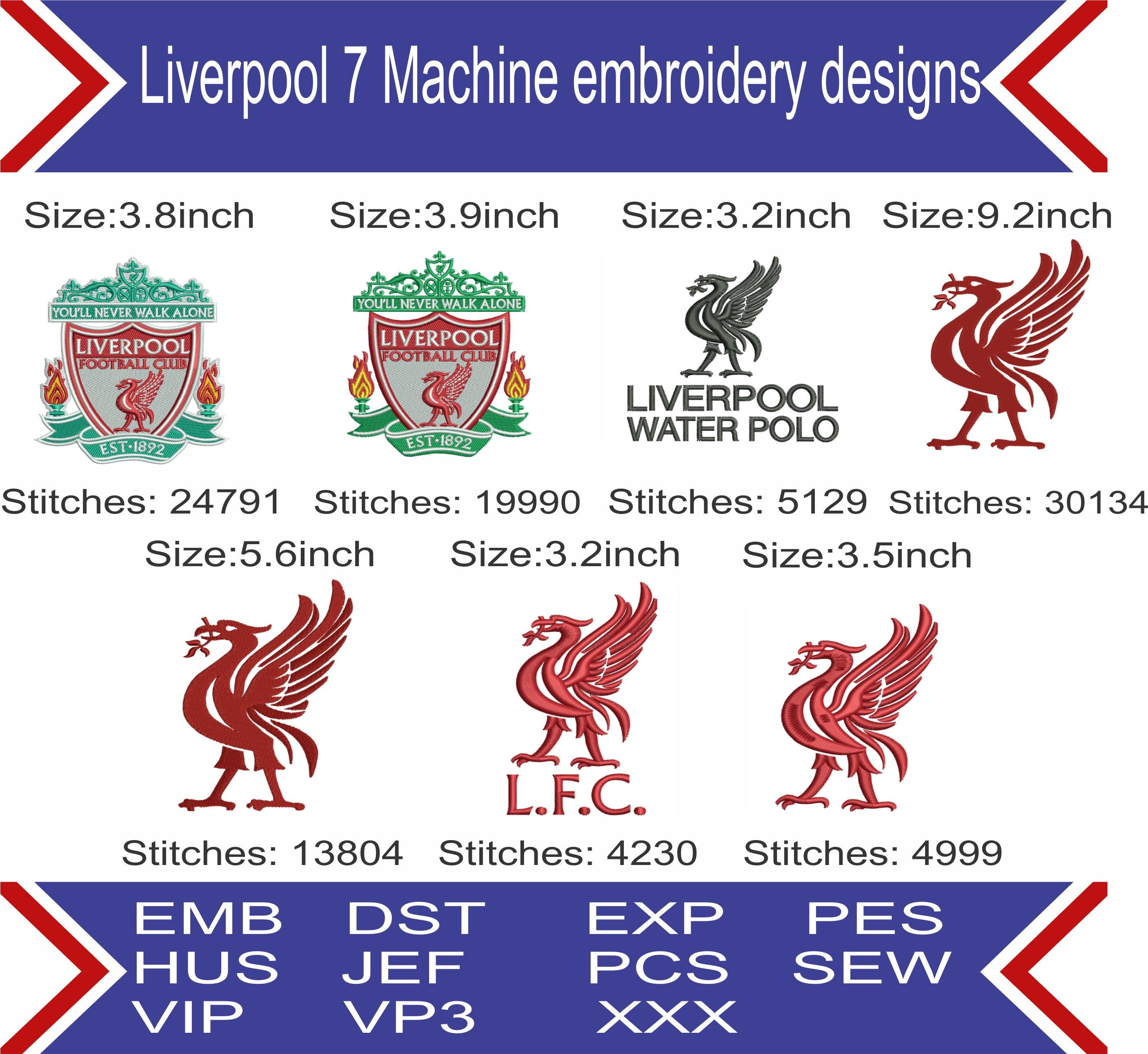 Liverpool Fc Embroidery Design,Liverpool Football Club