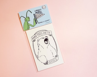 Feminist Animal Sticker Pack (set of 6)