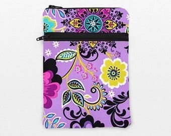 "iPad Pro 9.7"" Sleeve, Dell Venue 10, Lenovo Tab 2 Padded Case, iPad Mini Retina Covers, Surface Pro 4 - turquoise pink lime purple flowers"