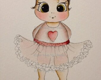 INSTANT DOWNLOAD Digital Digi Stamps Big Eye Big Head Dolls Bestie Little Puddin img501 My Besties By Sherri Baldy