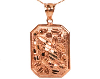 14k Rose Gold Nugget Necklace
