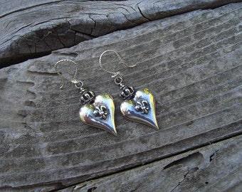 Medieval earrings in sterling silver