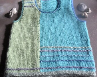 Girl's Hand Knitted 'Mermaid' Vest