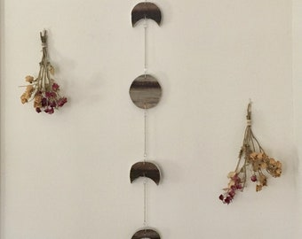 Reclaimed Barn Wood Moon Phases Wall Hanging