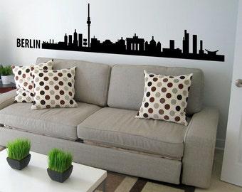 Berlin Skyline Wall Decal Cute Vinyl Sticker Home Arts Europe City Wall Decals WT091
