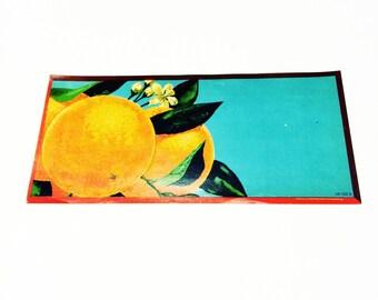 Vintage New Old Stock Unused Orange Produce Fruit Crate Label