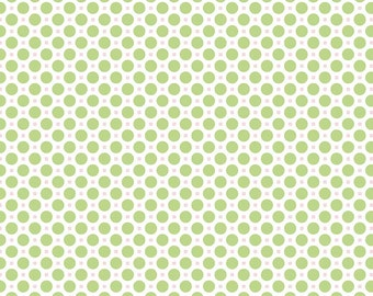Sew Cherry 2 Circle in Green from the Sew Cherry 2 Collection by Lori Holt for Riley Blake