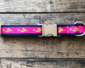 Mermaid Dog Collar, Sew Fetch Dog Collar, Be a Mermaid, Sew Fetch, Large Dog Collars, Shiny Dog Collars, Nautical Dog Collars