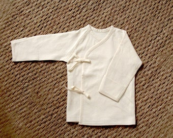 baby 100% organic unbleached cotton GOTS certified / baby Kimono / 60cm bio coton écru