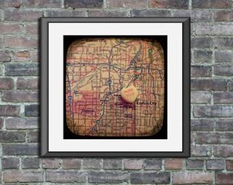 miss you kansas city custom candy heart map art 5x5 ttv unframed photo print going away moving graduation long distance gift