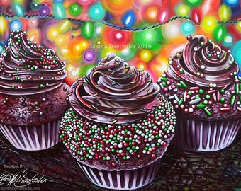 Moon Muffins - Limited Edition Prints - Painting by Dakota Daetwiler