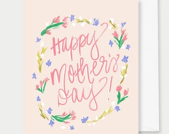 Happy Mother's Day Floral Card Mother Gift For Mother Greeting Cards | Mothers Day Gift for Mom Gift Grandma Gift For Women Gift for Her