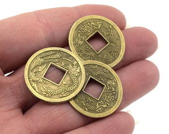 Ancient coins Chinese Feng Shui lucky D1