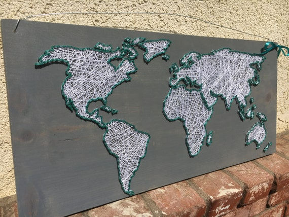 World map string art sign gumiabroncs Gallery