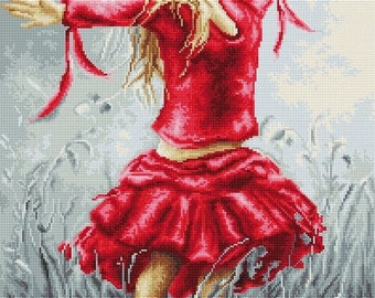 Dancing in the Field SB558 - Cross Stitch Kit by Luca-s