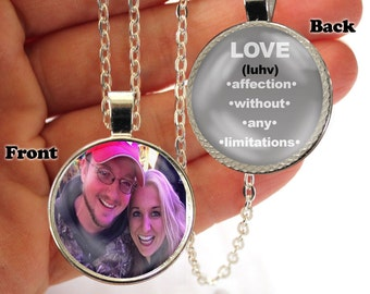 Personalized, Pendant, Double Sided, Love, Affection, Without Limitations, Necklace, Valentine's Day, Valentine Necklace