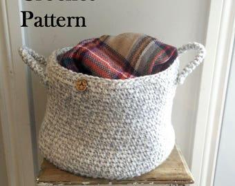 CROCHET PATTERN - The Huron Basket