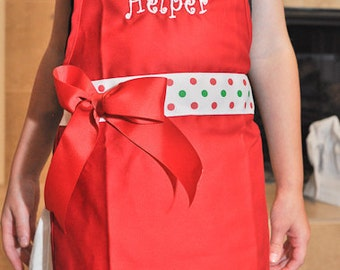 Apron and Chef Hat for Children, Personalized Apron and Chef Hat, Daughters Apron, Chef Hat, Apron Chef Hat, Girls Apron, Personalized