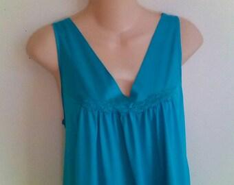 Vanity Fair nightgown nylon free bust L