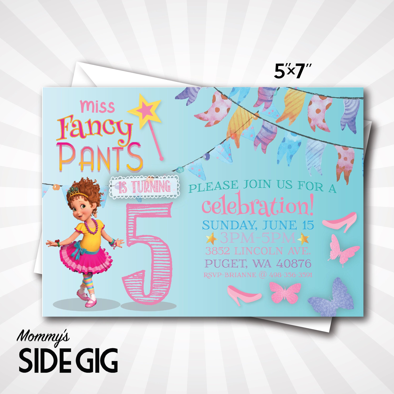 Fine Fancy Nancy Birthday Invitations Pictures - Invitations Example ...