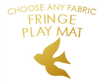 Baby Play Mat - CHOOSE ANY FABRIC - Made To Order / Round Play Mat with fringe / Extra Padded / Padded Playmat /Tummy Time Mat /Activity Mat